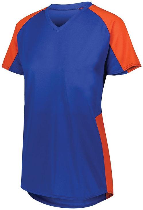 Girl's Cutter Jersey Royal Blue/Orange 284