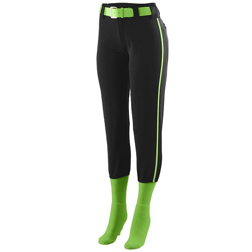 Girls LOW RISE COLLEGIATE PANT Black/Lime/White 113