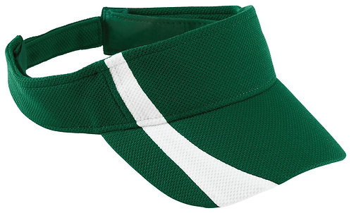 Youth ATHLETIC MESH VISOR Dark Green/White 438