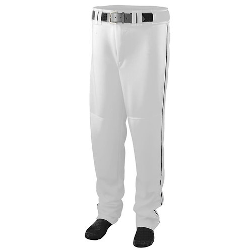 Youth SERIES PANT with PIPING White/Black 226