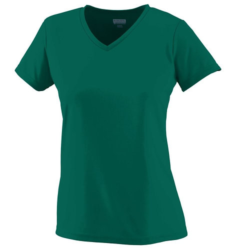 Ladies Wicking T-Shirt Dark Green 035