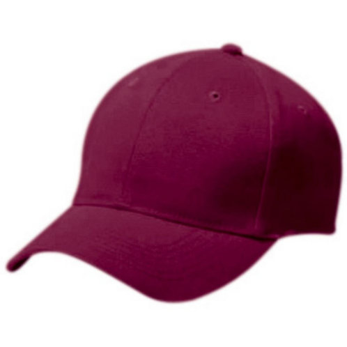 Youth COTTON TWILL SIX PANEL CAP Maroon 045