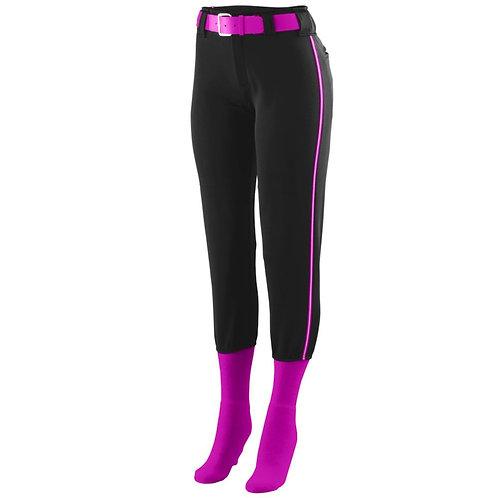 LADIES LOW RISE COLLEGIATE PANT Black/Power Pink/White 483