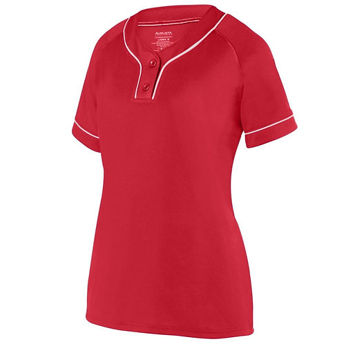 LADIES OVERPOWER TWO-BUTTON JERSEY Red/White 400