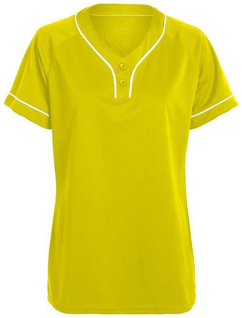 Girls OVERPOWER TWO-BUTTON JERSEY Power Yellow/White 327