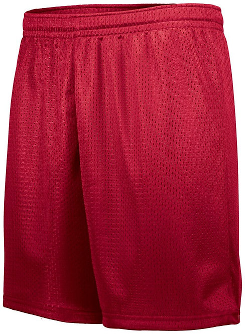 Adult TRICOT MESH SHORTS Red 040