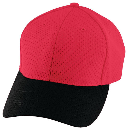 Youth ATHLETIC MESH CAP Red/Black 407