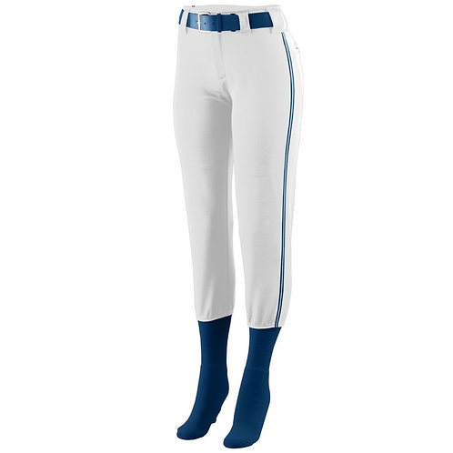 Girls LOW RISE COLLEGIATE PANT White/Navy Blue/White 138