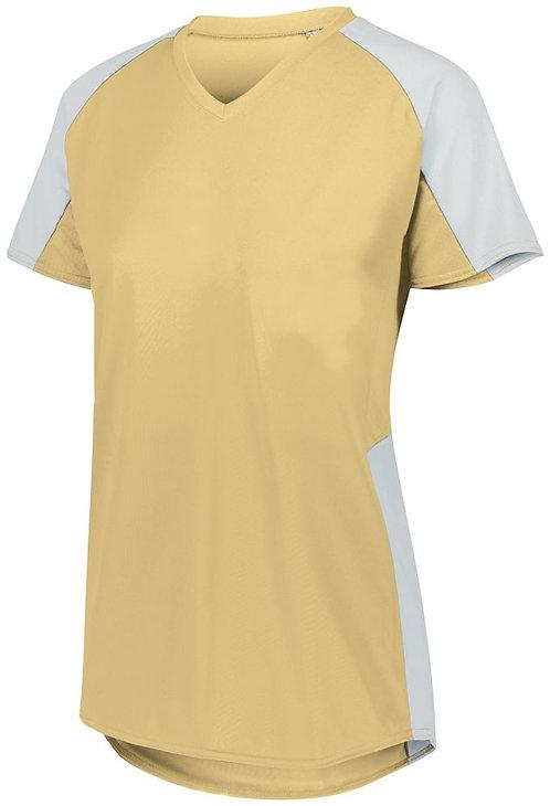 Ladies Cutter Jersey Vegas Gold/White 250