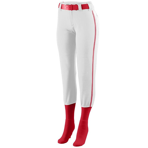 Girls LOW RISE COLLEGIATE PANT White/Red/White 136
