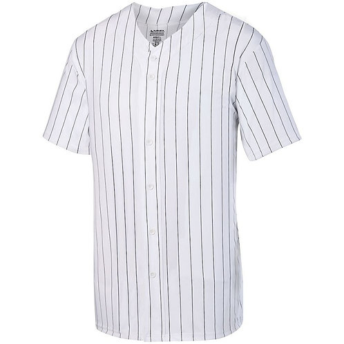 Youth PINSTRIPE FULL BUTTON JERSEY White/Black 226