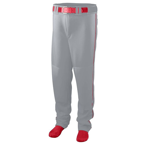 Youth SERIES PANT with PIPING Silver Grey/Red 473