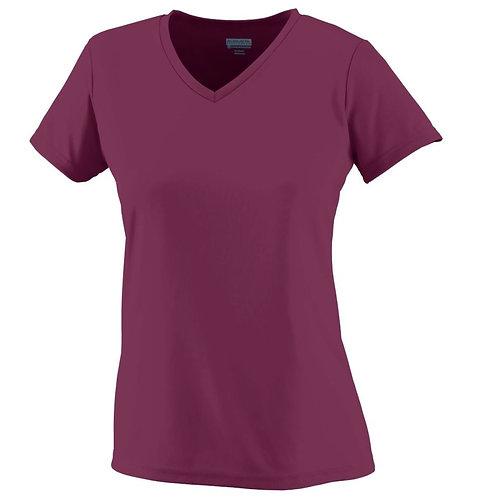 Ladies Wicking T-Shirt Maroon 045