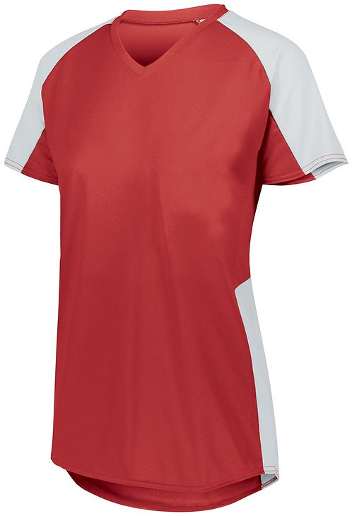 Girl's Cutter Jersey Red/White 400