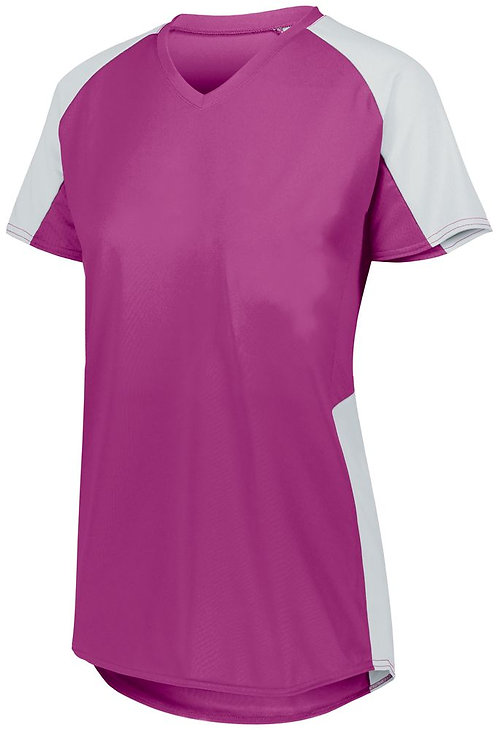 Girl's Cutter Jersey Power Pink/White 468