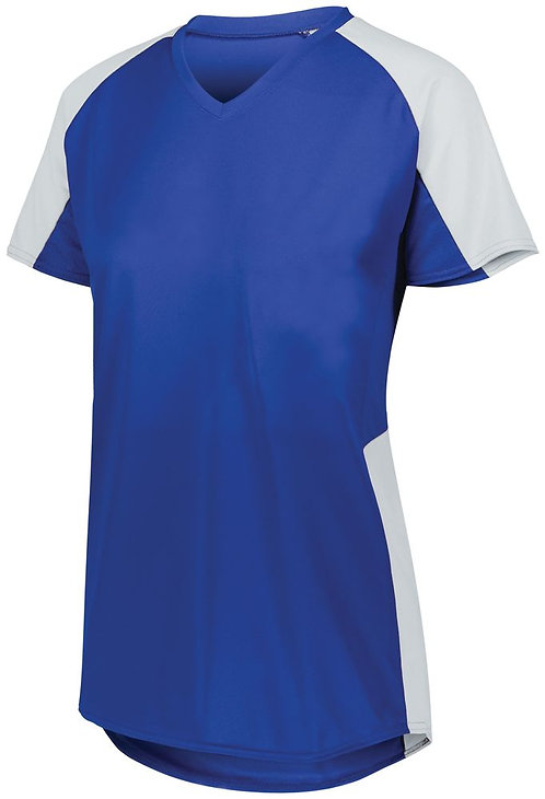 Ladies Cutter Jersey Royal Blue/White 280