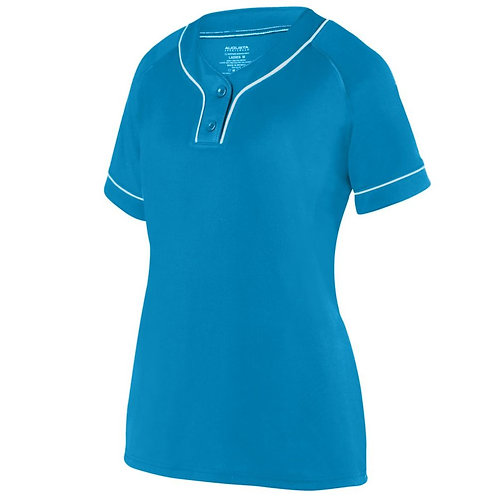 Girls OVERPOWER TWO-BUTTON JERSEY Power Blue/White 834