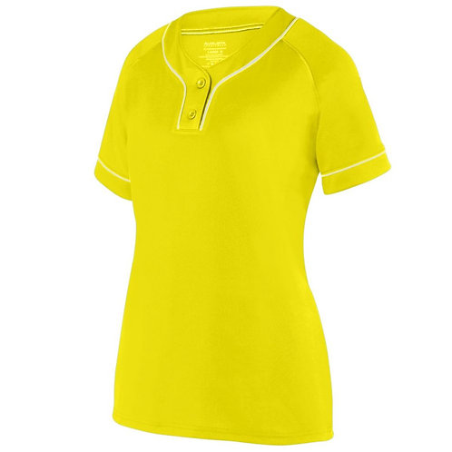 LADIES OVERPOWER TWO-BUTTON JERSEY Power Yellow/White 327
