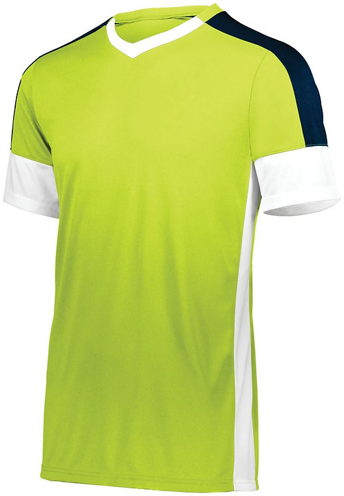 Youth WEMBLEY SOCCER JERSEY Lime/White/Navy 694