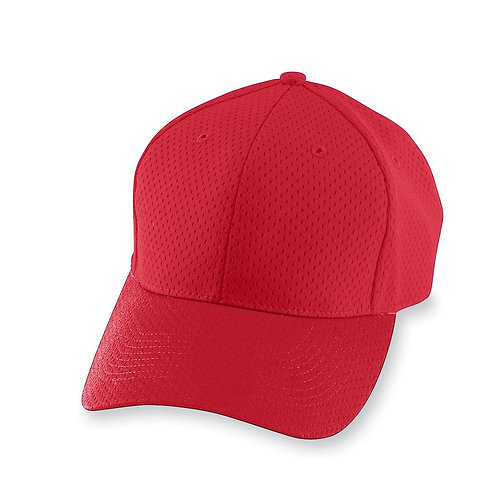 Youth ATHLETIC MESH CAP Red 040