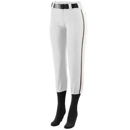 Girls LOW RISE COLLEGIATE PANT White/Black/Gold 375