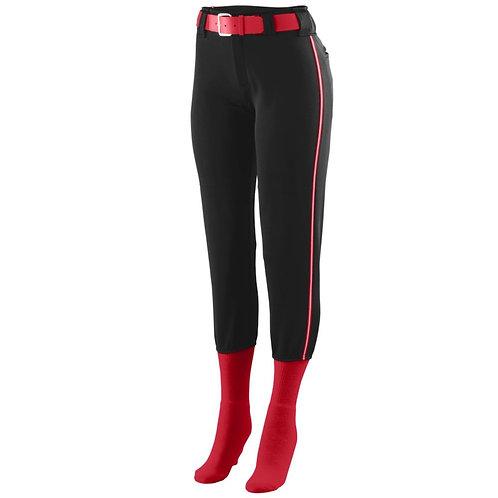 LADIES LOW RISE COLLEGIATE PANT  Black/Red/White 527