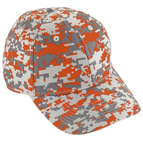 Adult CAMO COTTON TWILL CAP Orange 06G