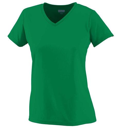 Ladies Wicking T-Shirt Kelly Green 030