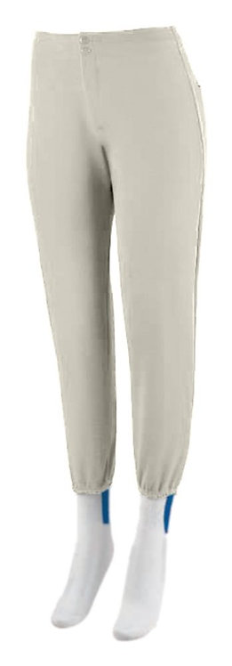 LADIES LOW RISE SOFTBALL PANT Silver Grey 016