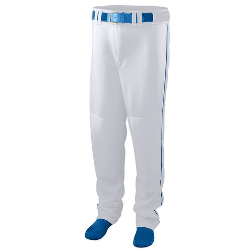 Youth SERIES PANT with PIPING White/Royal Blue 220