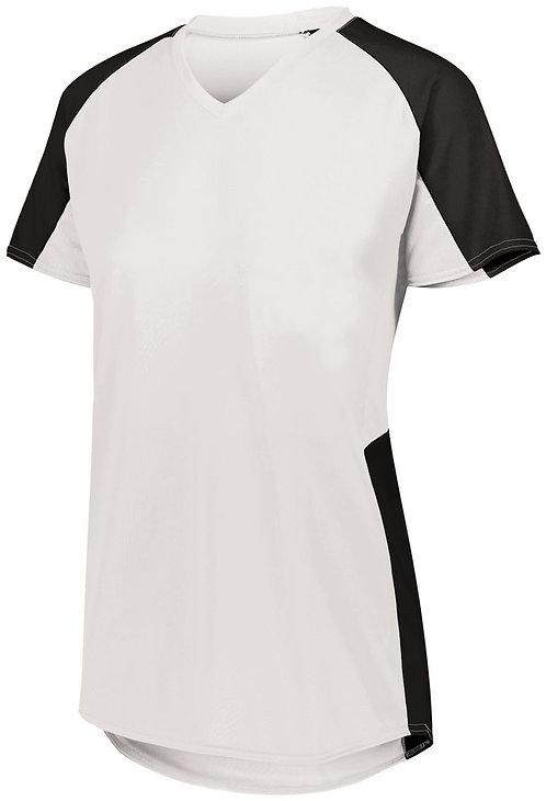 Ladies Cutter Jersey White/Black 226