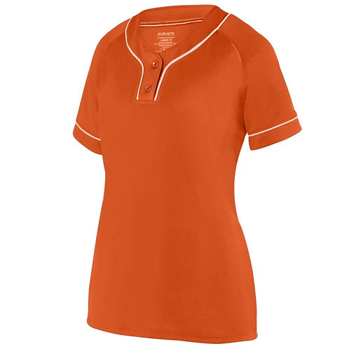 Girls OVERPOWER TWO-BUTTON JERSEY Orange/White 320
