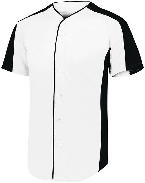 Youth FULL BUTTON BASEBALL JERSEY White/Black 226