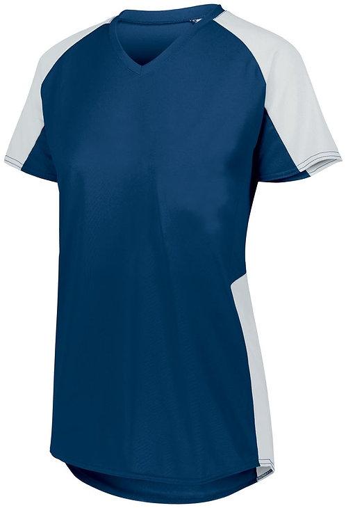 Ladies Cutter Jersey Navy Blue/White 301