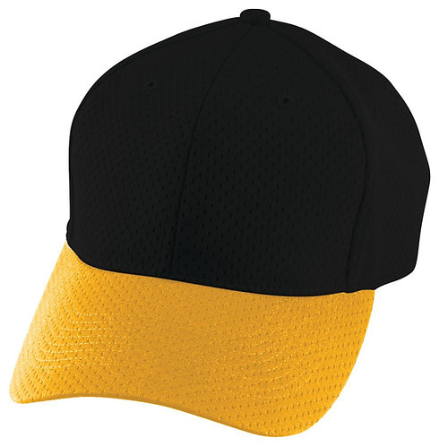 Youth ATHLETIC MESH CAP Black/Gold 421