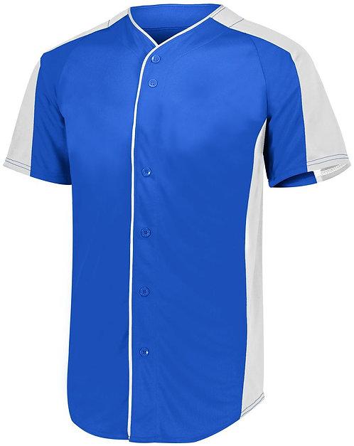 FULL BUTTON BASEBALL JERSEY Royal Blue/White 280