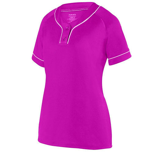 LADIES OVERPOWER TWO-BUTTON JERSEY Power Pink/White 468