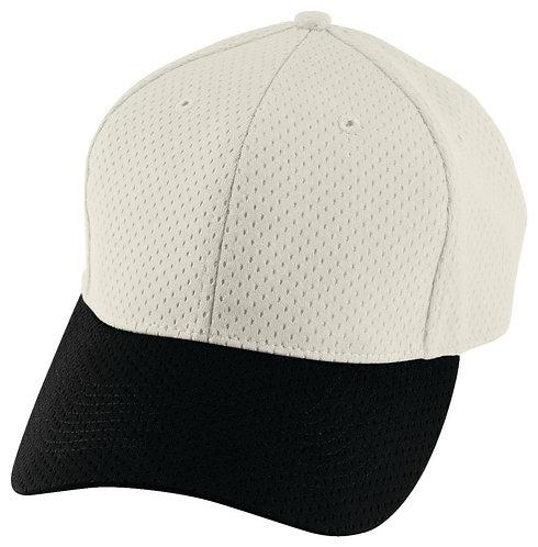 Youth ATHLETIC MESH CAP Silver Grey/Black 470