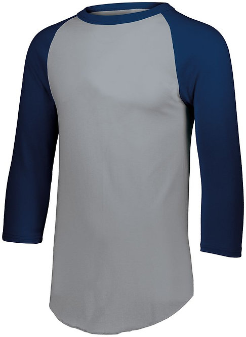 Youth BASEBALL JERSEY 2.0 Athletic Hether/Navy Blue 157