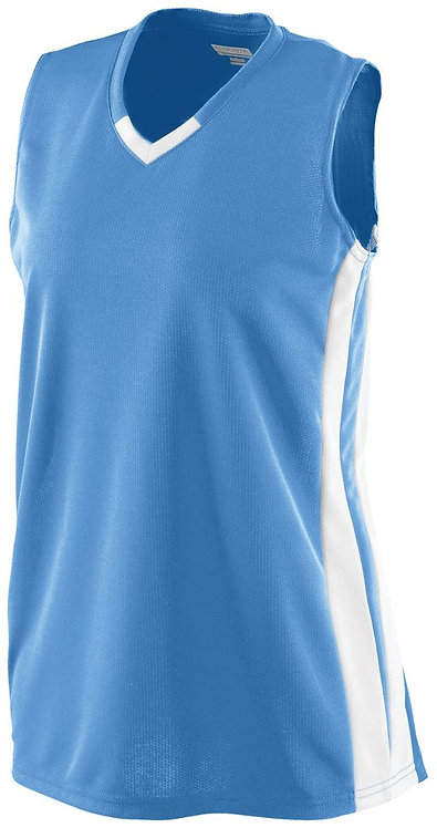 LADIES WICKING MESH POWERHOUSE JERSEY Columbia Blue/White 293