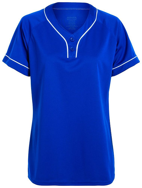LADIES OVERPOWER TWO-BUTTON JERSEY Royal Blue/White 280