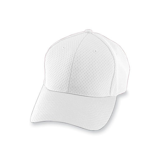 Youth ATHLETIC MESH CAP White 005