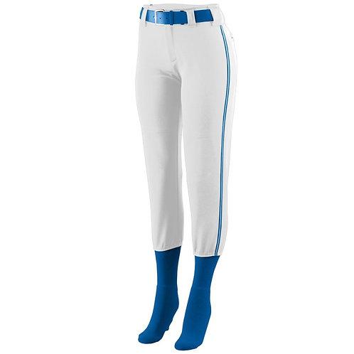 LADIES LOW RISE COLLEGIATE PANT White/Royal Blue/White 137