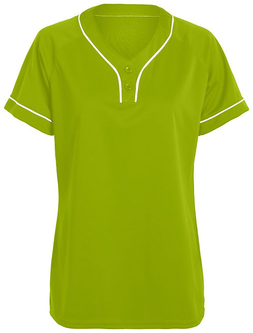 Girls OVERPOWER TWO-BUTTON JERSEY Lime/White 693