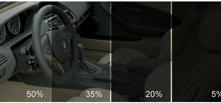 What Do Window Tint Percentages Look Like?