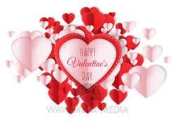 Folded Valentines hearts