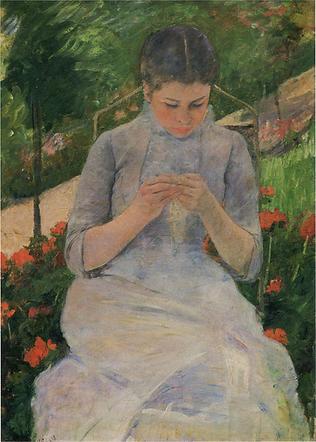 Cassatt, young woman in a garden, Orsay.
