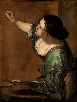 Self portrait as the Allegory of Paintin