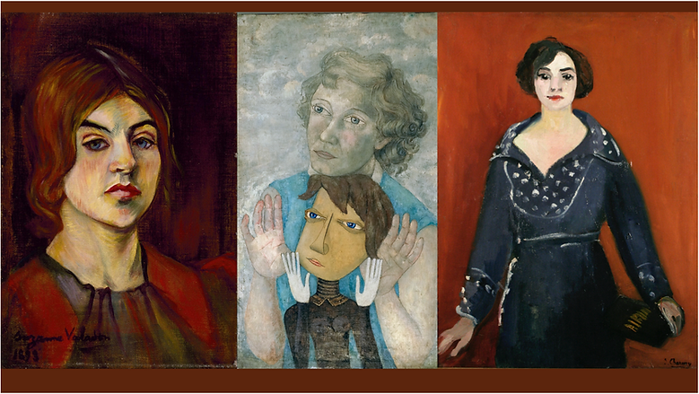 Valadon, Vassilieff, Charmy self-portrai