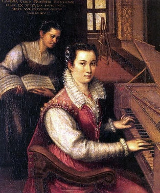 Fontana Self Portrait at the Spinet Acco